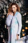Żakardowa chusta do noszenia dzieci, 96% bawełna, 4% przędza metalizowana - LŚNIĄCA KRÓLOWA ŚNIEGU - rozmiar L