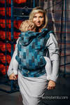 Ergonomic Carrier, Baby Size, crackle weave 100% cotton - QUARTET RAINY - Second Generation