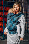 Ergonomic Carrier, Toddler Size, crackle weave 100% cotton - wrap conversion from QUARTET RAINY - Second Generation