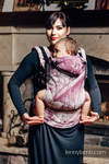 Ergonomic Carrier, Baby Size, jacquard weave 60% combed cotton, 40% Merino wool - GALLEONS BURGUNDY & CREAM, Second Generation