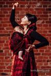 Żakardowa chusta do noszenia dzieci, bawełna - SYMFONIA FLAMENCO- rozmiar XS
