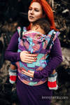 Ergonomic Carrier, Baby Size, jacquard weave 27% combed cotton, 73% Merino wool - wrap conversion from PRISM, Second Generation