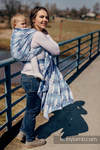 Żakardowa chusta do noszenia dzieci, bawełna - FISH'KA WIELKI BŁĘKIT - rozmiar XL