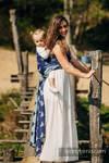 Żakardowa chusta do noszenia dzieci, 65% Bawełna 35% Jedwab - LARINA - rozmiar M