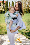 Ergonomische Tragehilfe, Größe Baby, Jacquardwebung, 100% Baumwolle - FRESH LEMON - Zweite Generation