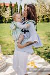 Nosidełko Ergonomiczne z tkaniny żakardowej 100% bawełna , Toddler Size, FRESH LEMON - Druga Generacja