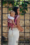 Lenny Buckle Onbuhimo baby carrier, toddler size, jacquard weave - 62% cotton, 38% silk - SYMPHONY SWEETNESS