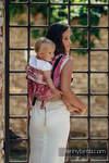 Nosidło Klamrowe ONBUHIMO z tkaniny żakardowej, rozmiar Toddler - 62% bawełna 38% jedwab - SYMFONIA SŁODYCZ