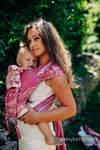 Nosidełko dla dzieci WRAP-TAI TODDLER, 62% bawełna 38% jedwab, splot żakardowy, z kapturkiem, SYMFONIA SŁODYCZ (drugi gatunek)