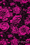 Puppentragetuch, Jacquardwebung, 100% Baumwolle - RETRO 'N' ROSES