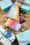 Prezentowy Zestaw Świąteczny dla Mamy - Przyjemność (Chusta tkana - 100% bawełna; Plecak/worek - 100% bawełna; ozdoba świąteczna - 100% bawełna)