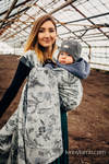 Żakardowa chusta do noszenia dzieci,(100% bawełna) - HERBARIUM Z OGRODU ROUNDHAY - rozmiar S