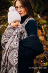Baby Wrap, Jacquard Weave (74% cotton 26% silk) - FOLK HEARTS - NOSTALGIA - size XL (grade B)