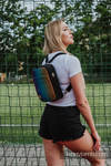 Backpack/Crossbody Bag 2in1  SPORTY, (56% cotton, 44% viscose) - BIG LOVE RAINBOW DARK