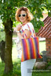 Shopping bag made of wrap fabric (100% cotton) - SUNSET RAINBOW COTTON