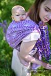 Baby Wrap, Jacquard Weave (100% linen) - LOTUS - PURPLE - size S
