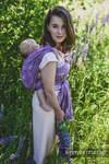 Żakardowa chusta do noszenia dzieci, 100% len - LOTOS - PURPUROWY - rozmiar XS