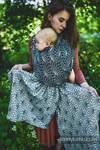 Żakardowa chusta do noszenia dzieci, 100% len - LOTOS - CZARNY - rozmiar XS