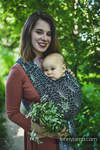 Baby Wrap, Jacquard Weave (100% linen) - LOTUS - BLACK - size S