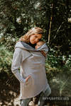 Asymmetrical Hoodie - Grey Melange with Colorful Wind - size S