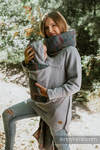 Babywearing Sweatshirt 3.0 - Grey Melange with Colorful Wind - size 3XL