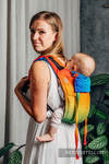 Lenny Buckle Onbuhimo baby carrier, standard size, jacquard weave (100% cotton) - RAINBOW BABY