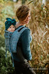 Lenny Buckle Onbuhimo baby carrier, Toddler size, jacquard weave (59% cotton, 28% Merino wool, 9% silk, 4% cashmere) - WILD SOUL - LIBERTY
