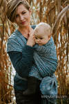 Baby Wrap, Jacquard Weave (59% combed cotton, 28% Merino wool, 9% silk, 4% cashmere) - WILD SOUL - LIBERTY - size L