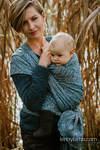 Baby Wrap, Jacquard Weave (59% cotton, 28% Merino wool, 9% silk, 4% cashmere) - WILD SOUL - LIBERTY - size L