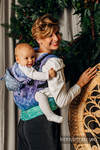 LennyGo Ergonomic Carrier, Toddler Size, jacquard weave 100% cotton - SNOW QUEEN - CRYSTAL
