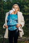 Porte-bébé LennyUpGrade, taille standard, jacquard, (51% Coton, 30% Laine Mérinos, 10% Soie, 5% Cachemire, 4% Fil Métallisé) - SYMPHONY - ICY