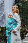 Baby Wrap, Jacquard Weave (96% cotton, 4% metallised yarn) - WOODLAND - FROST - size XS