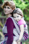 Baby Sling, Broken Twill Weave (100% cotton) - HEATHER NIGHTS - size XS (grade B)