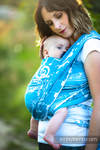 Baby Wrap, Jacquard Weave (51% cotton, 30% merino wool, 10% silk, 5% cashmere, 4% metallised yarn) - SYMPHONY - ICY - size L