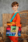 Shoulder bag made of wrap fabric (100% cotton) - RAINBOW SAFARI 2.0 - standard size 37cmx37cm