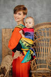 LennyHybrid Half Buckle Carrier, Standard Size, jacquard weave 100% cotton - RAINBOW SAFARI 2.0