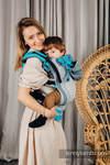 LennyGo Ergonomic Mesh Carrier, Baby Size, broken-twill weave 86% cotton, 14% polyester - MISTY MORNING
