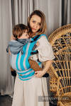 LennyGo Ergonomic Carrier, Baby Size, broken-twill weave 100% cotton - MISTY MORNING
