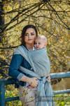 Baby Wrap, Jacquard Weave (100% linen) - TERRA - RUSTLE - size S