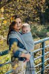 Żakardowa chusta do noszenia dzieci, 100% len - TERRA - SZELEST - rozmiar M