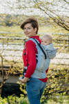 LennyGo Ergonomic Carrier, Toddler Size, jacquard weave 100% linen - TERRA - HUMMING