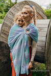 Ringsling, Jacquard Weave (68% cotton, 32% bamboo), with gathered shoulder - BIG LOVE - SIRENA - standard 1.8m