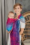 Żakardowa chusta kółkowa do noszenia dzieci, (100% bawełna), ramię bez zakładek - WAŻKI - POŻEGNANIE ZE SŁOŃCEM  - standard 1.8m