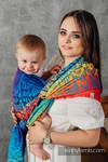 Baby Wrap, Jacquard Weave (100% cotton) - RAINBOW CHEVRON - size XS