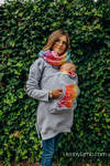 Babywearing Sweatshirt 3.0 - Grey Melange with Dragonfly Rainbow - size 4XL