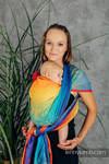 Żakardowa chusta do noszenia dzieci, bawełna - TĘCZOWA SYMFONIA - rozmiar L