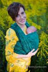 Baby Wrap, Jacquard Weave (51% cotton 49% silk) - WILD VINE - IVY - size XS