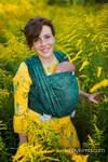 Baby Wrap, Jacquard Weave (51% cotton 49% silk) - WILD VINE - IVY - size L