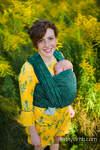 Baby Wrap, Jacquard Weave (51% cotton 49% silk) - WILD VINE - IVY - size S