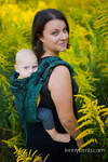 Lenny Buckle Onbuhimo baby carrier, standard size, jacquard weave (51% cotton 49% silk) - WILD VINE - IVY